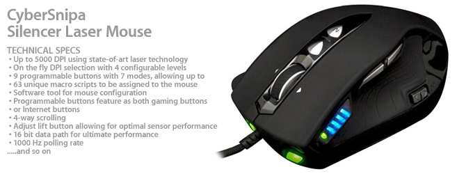 Cyber Snipa Silencer Laser Mouse