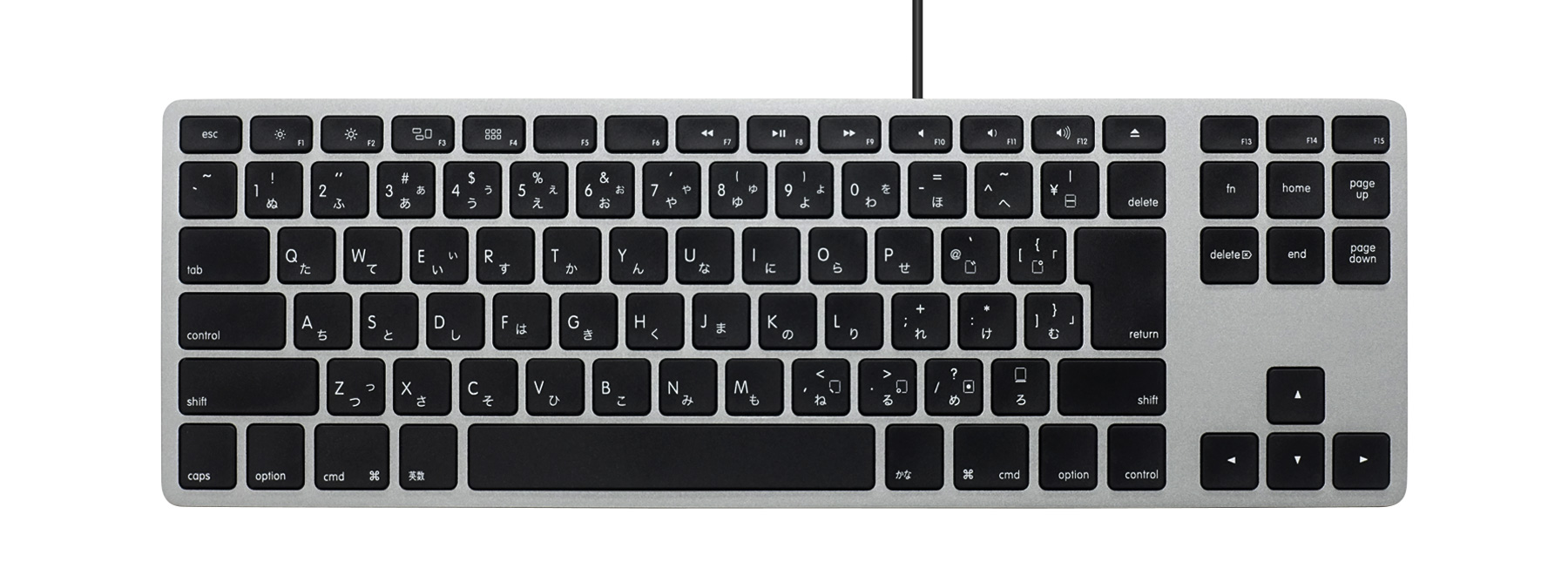 Matias Wired Aluminum Tenkeyless keyboard for Mac - Space Gray 日本語配列