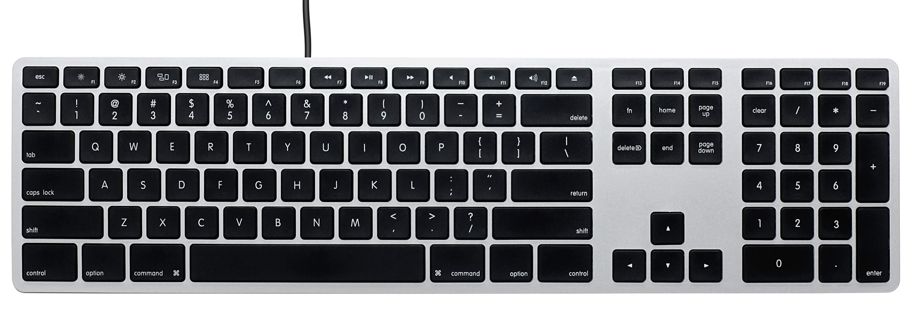 Matias Wired keyboard for Mac - Silver/Black 英語配列