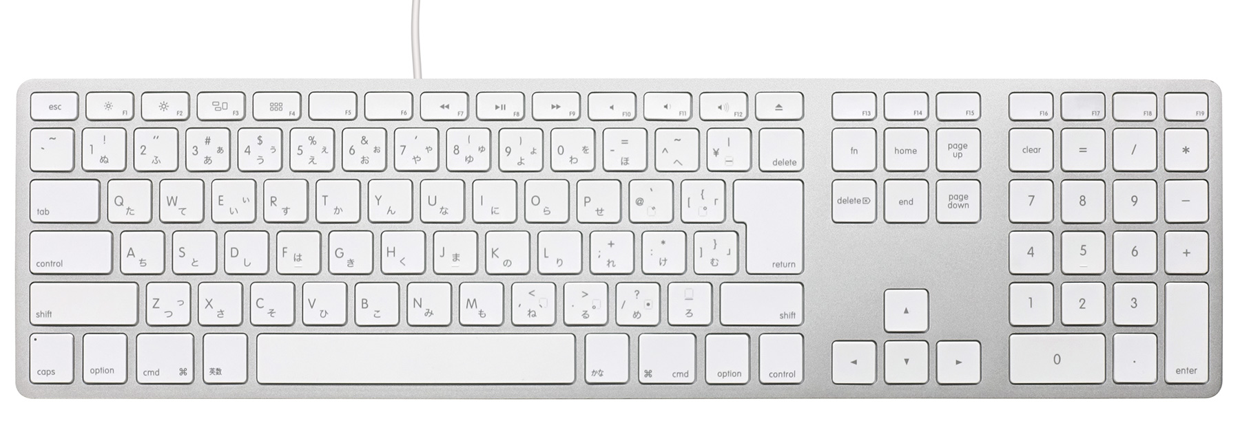 Matias Wired Aluminum keyboard for Mac - Silver 日本語配列