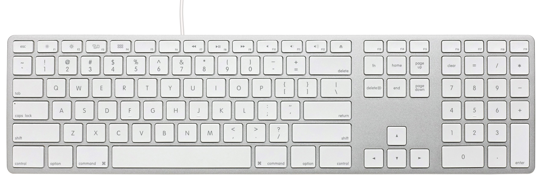 Matias Wired Aluminum keyboard for Mac - Silver 英語配列