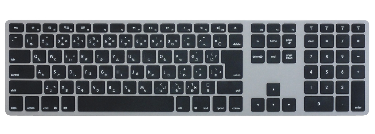 Matias Wireless Aluminum Keyboard - Space gray 日本語配列
