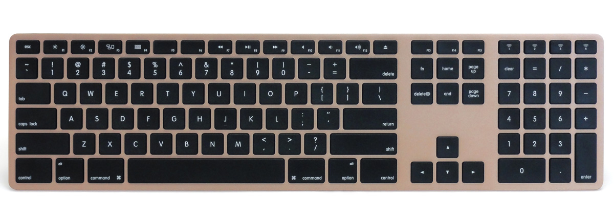 Matias Wireless Aluminum Keyboard - Gold 英語配列