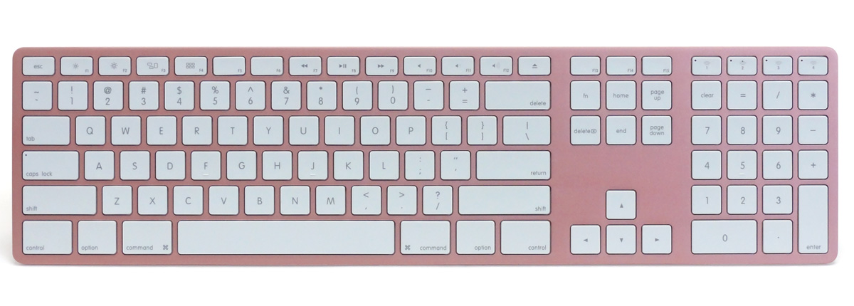 Matias Wireless Aluminum Keyboard - Rose Gold 英語配列