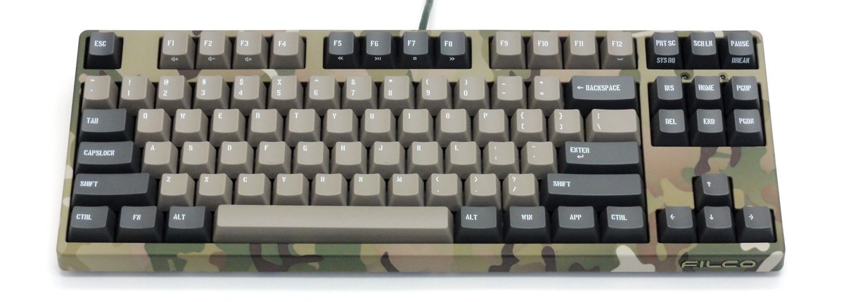Majestouch 2 Camouflage-R CHERRY MX SILENTスイッチ・テンキーレス・US ASCII