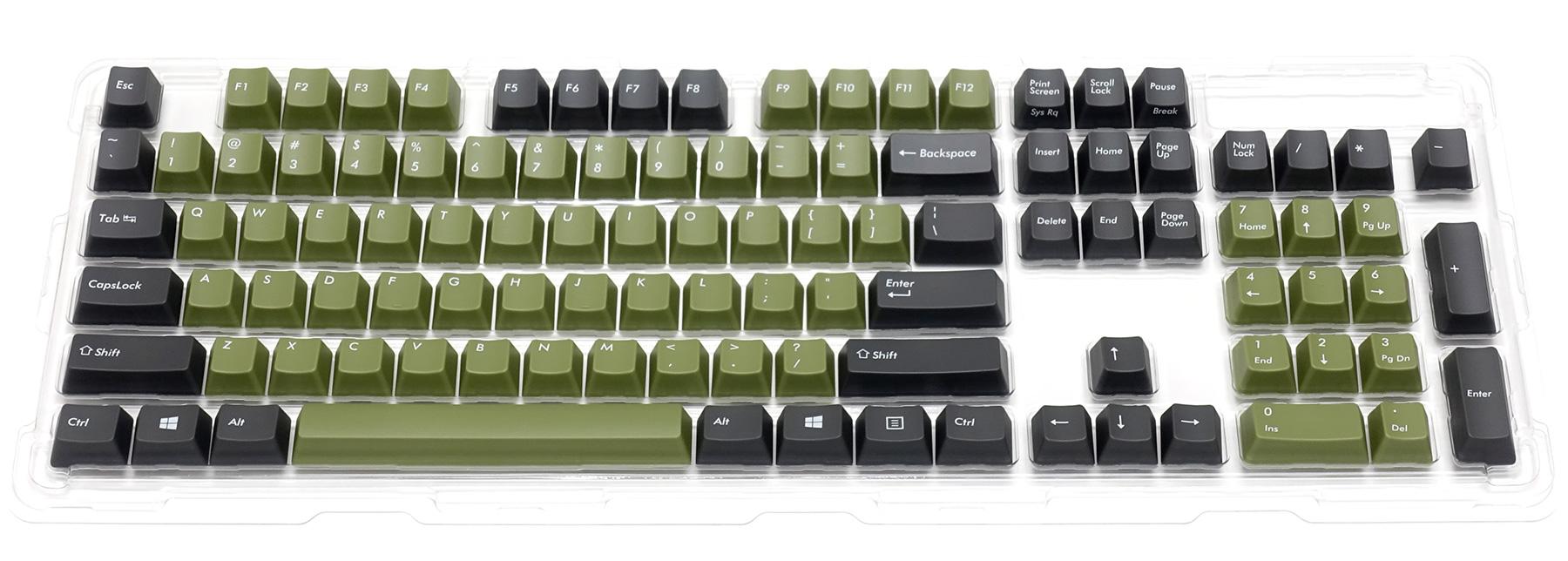 カラーキーキャップセット 英語104キー・US ASCII・トーンA
