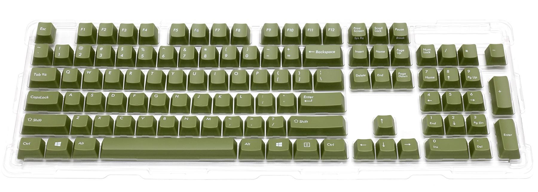 カラーキーキャップセット 英語104キー・US ASCII・オリーブグリーン