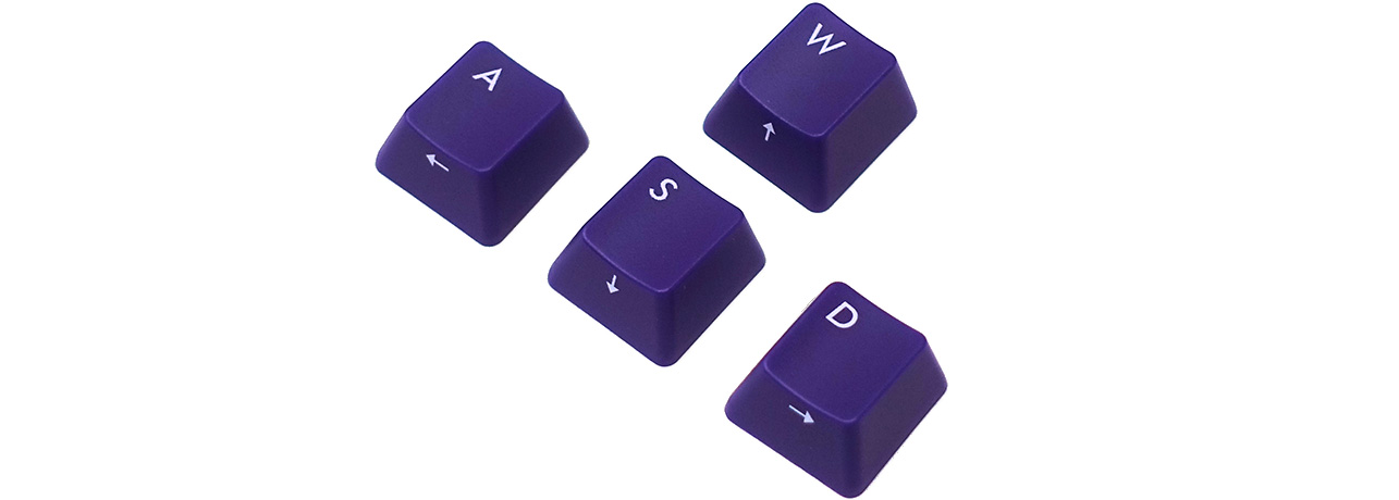 【直販限定】Majestouch用 ASDW purple keycap set