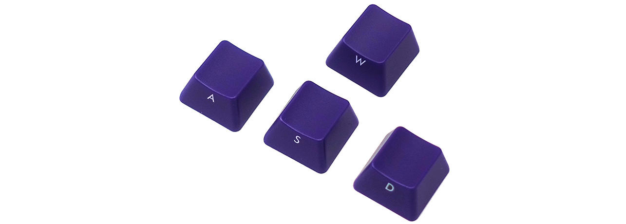 【直販限定】Majestouch用 ASDW purple keycap set 【前面印刷タイプ】