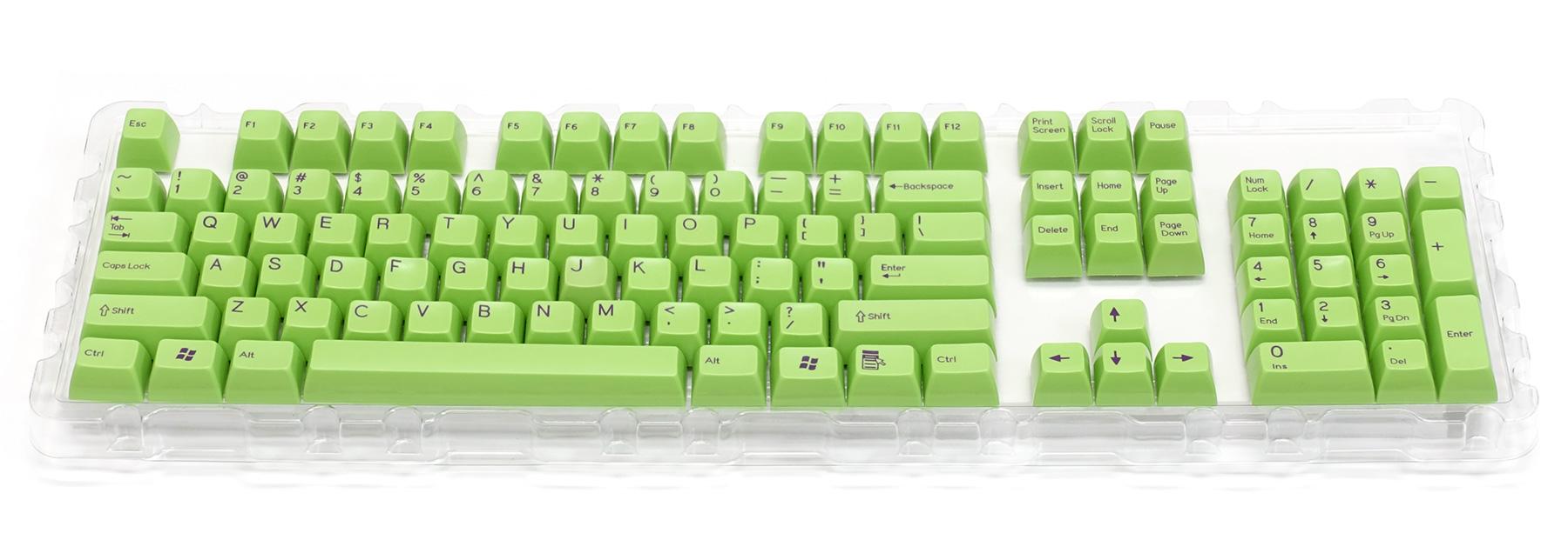 2色成型キーキャップ緑