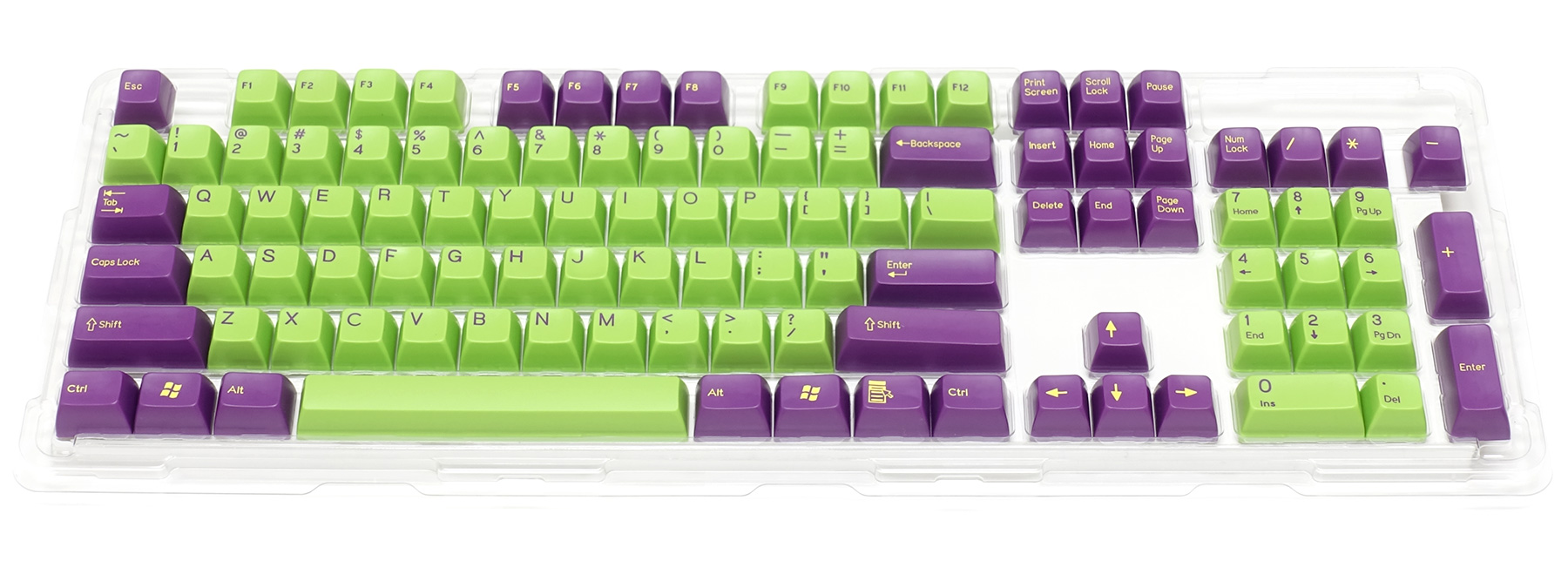 Double-shot keycap set for Majestouch 2 / Purple & Green
