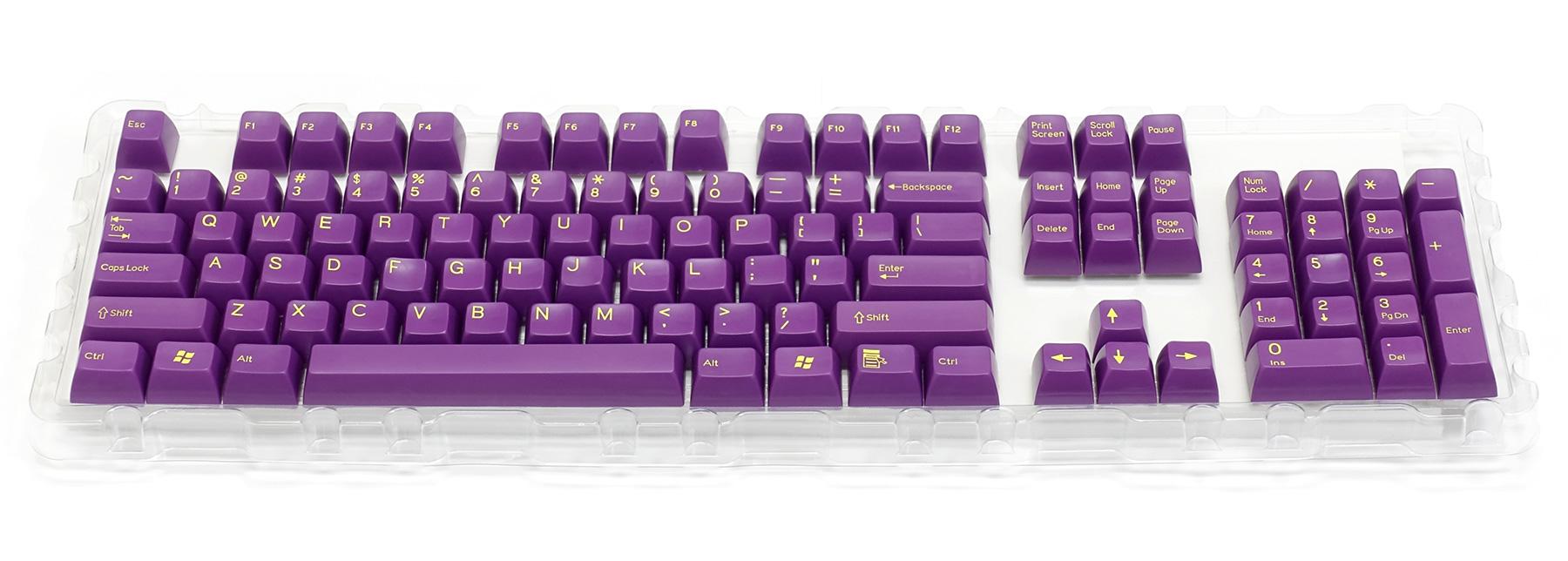 2色成型キーキャップ紫