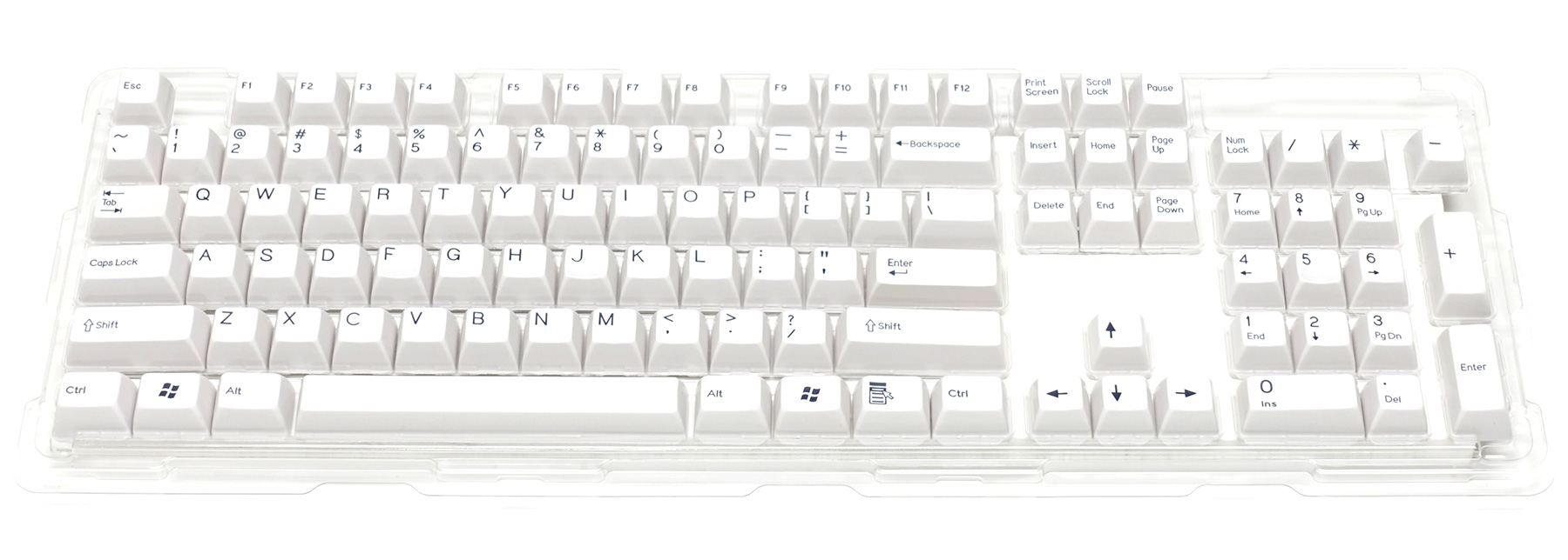 Double-shot keycap set for Majestouch 2 / White