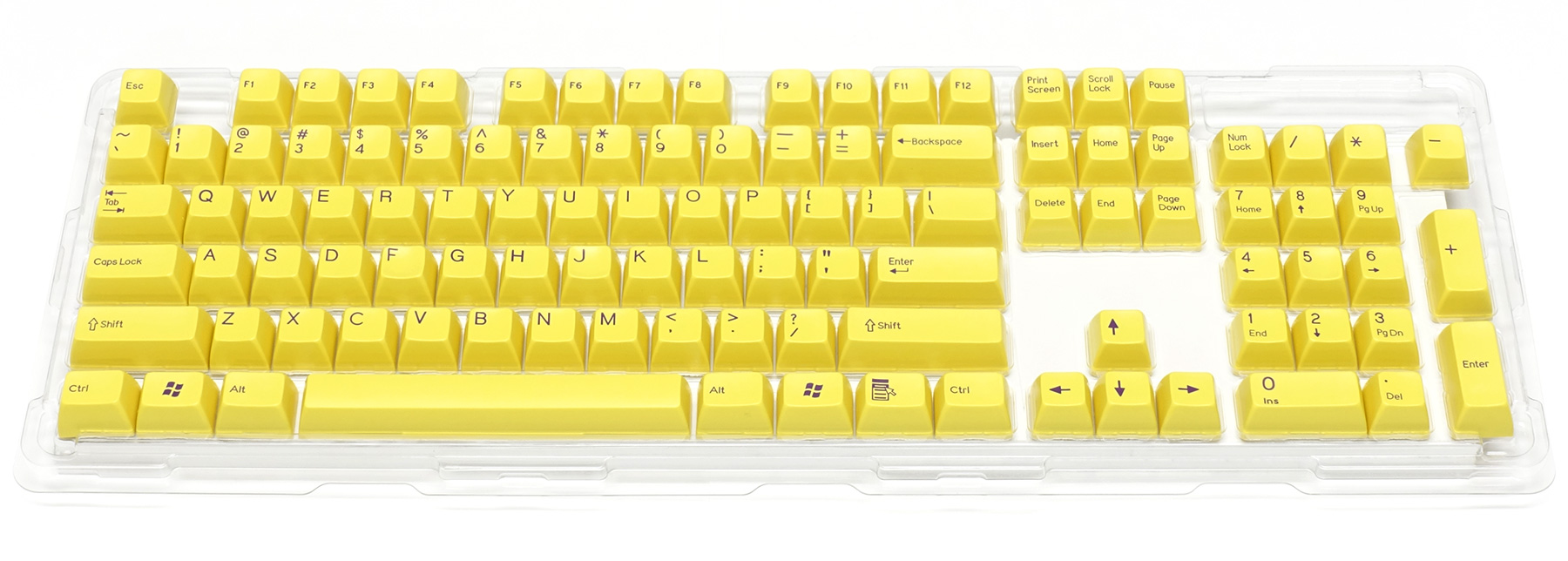 Double-shot keycap set for Majestouch 2 / Yellow