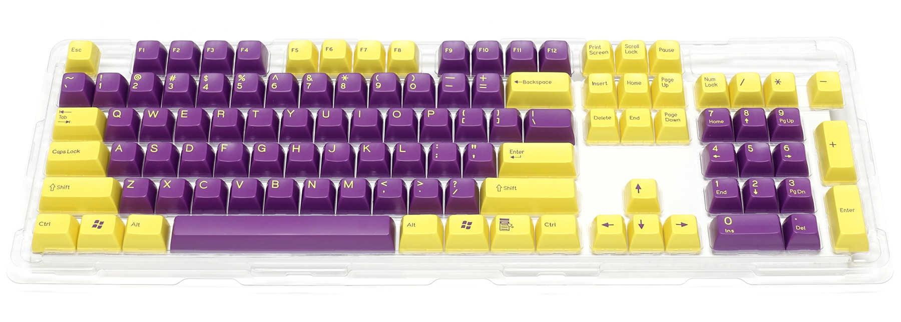 Double-shot keycap set for Majestouch 2 / Yellow & Purple