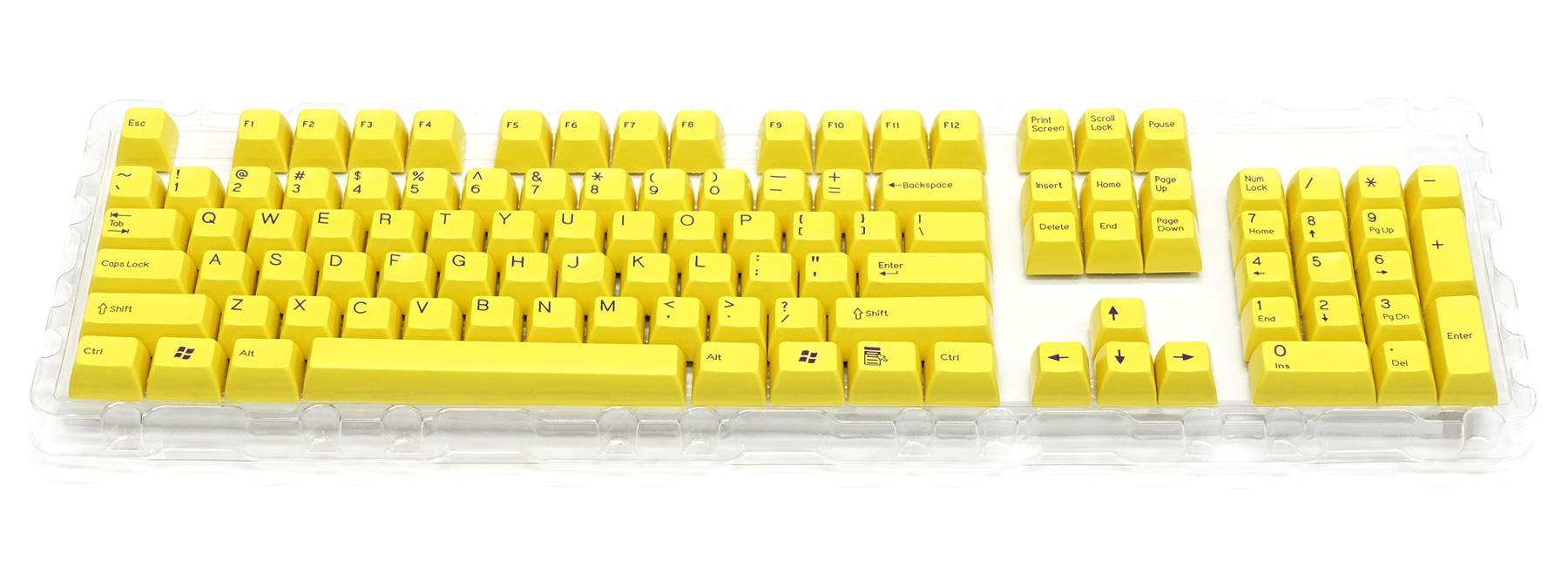 2色成型キーキャップ黄