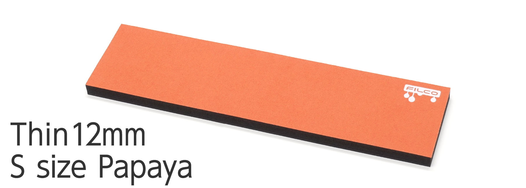 "FILCO Majestouch Wrist Rest ""Macaron"" Thin 12mm / S size / Papaya"
