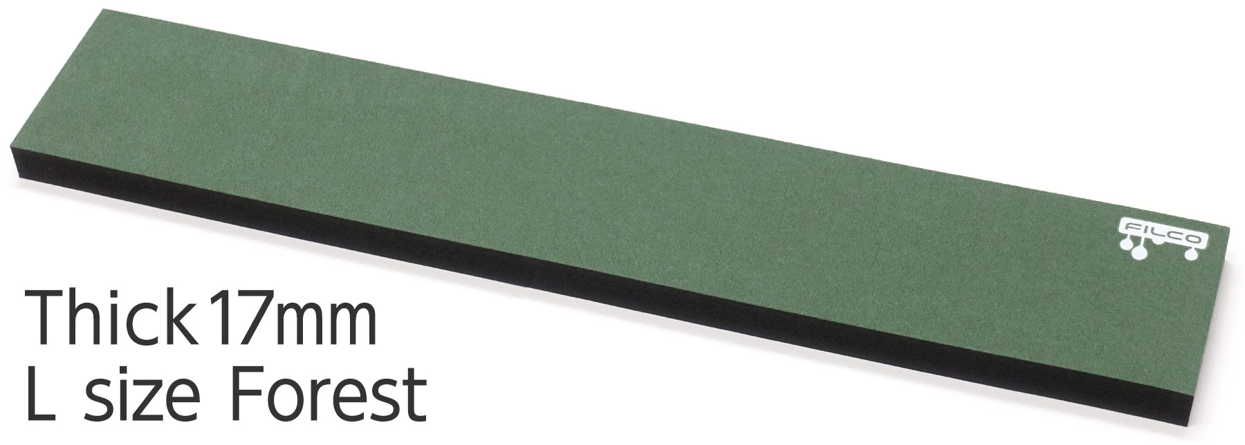 "FILCO Majestouch Wrist Rest ""Macaron"" Thick 17mm / L size / Forest"